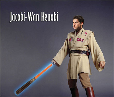 Josh Lingel of Boston made this new look for Jacoby-Wan Ellsbury.