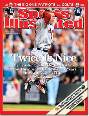 Sox win World Series again A World Series title usually gets you an SI cover, as was the case on Nov. 5, 2007, after the Red Sox their second championship in four years.