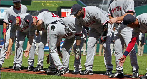 From the start, Pedroia's Red Sox teammates joked around with him just like everyone else; on Opening Day, they gave him low fives as he took the field to poke fun at his short stature.