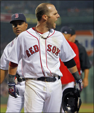 Pedroia continued his excellent play through June and July (.316 average, 19 RBIs, 25 runs), and developed a reputation for being a fierce and outspoken competitor.