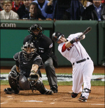 Pedroia continued his barrage in the World Series, where he picked up four RBIs in just 18 at bats. He and fellow rookie Jacoby Ellsbury accounted for 13 Boston runs during the Series.