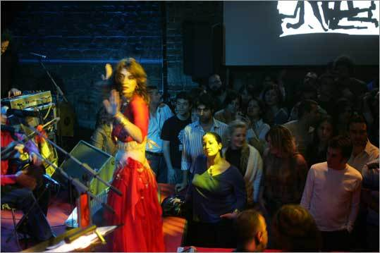 A belly dancer with with the group Baba Zula performs at Babylon, an Instanbul club.
