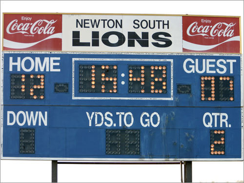 The halftime scoreboard reflected a 12-7 advantage for Newton South. Lincoln-Sudbury needed at least a three-point halftime lead to ensure that it would remain alive in the event of a three-way tie atop the Dual County League.