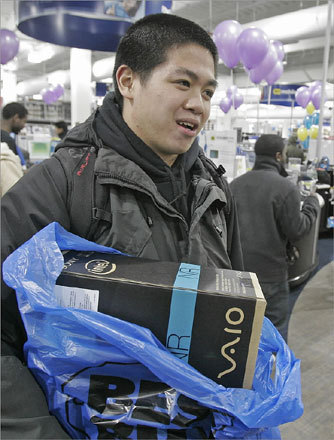 Wilson Hui of Boston accomplished his goal of buying a laptop at a bargain price.