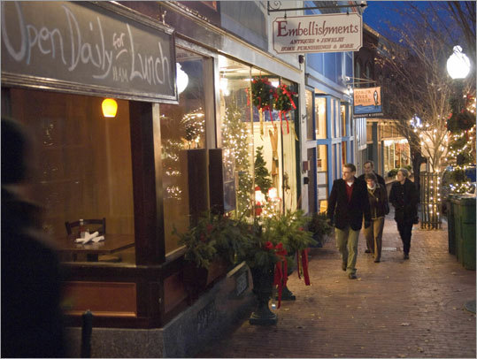 Main Street supplies its own energy to downtown Amesbury.