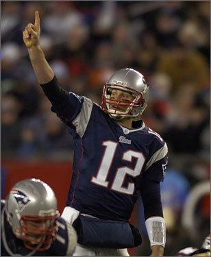 Patriots quarterback Tom Brady called out a play.