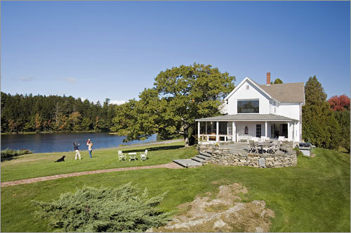 The renovation and expansion of this home in Cundy's Harbor, Maine, by furniture designer David Moser was profiled in The Boston Globe Magazine by freelance writer Christie Matheson.