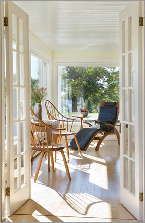 Another addition to the home was a wraparound porch, which is mostly enclosed.