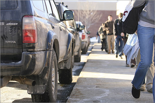 Officials in Keene, NH are finding it more difficult than expected to get people to change their behavior to help the environment. Despite a local 'no-idling' ordinance, many of the cars lined up outside Keene High School on a recent school day were running despite several signs asking them to turn off their cars while waiting.