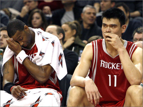 Tracy McGrady and Yao Ming (both pictured) provide one of the best 1-2 punches in the league. Houston is around .500, and the Celtics could be tired from their road trip when they come to the Garden. Shane Battier is a perfect role player for Houston, and the Rockets have Steve Francis playing a secondary role. They're a tough opponent.