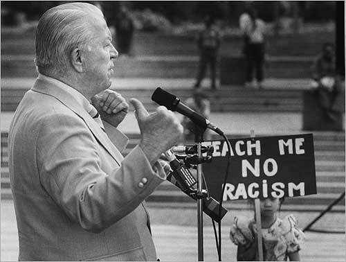 O'Neil was hooted from the stage at a rally for racial harmony in June 1992 after he refused to apologize for racially inflammatory remarks he made about the city's growing Vietnamese community during the annual Dorchester Day parade. In comments to a police official that were captured on camera by a local television station, O'Neil had said: 'I just passed up there. I thought I was in Saigon, for Chrissakes ... It makes you sick, for Chrissakes . . . I told them I'd come back with the checks tomorrow.'