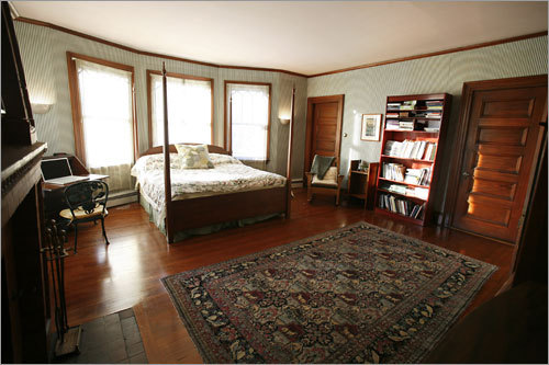 The home's master bedroom is spacious.