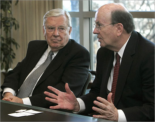 M. Russell Ballard, left, and Quentin L. Cook of the Mormon Church.
