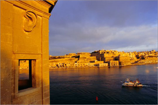A view of Valletta from across Grand Harbour.
