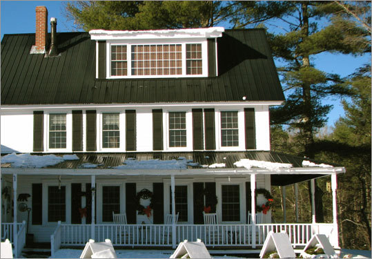 Bear Mountain Inn in Waterford, Maine, is set on 52 acres.