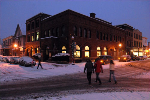 Main Street, downtown White River Junction, Vt. Read the story What's nearby: Stay , Play , Eat