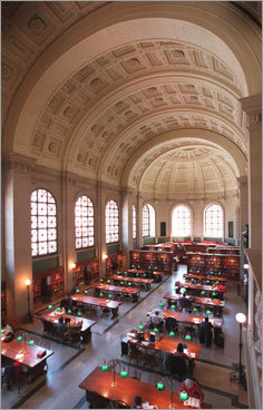 The Boston Public Library - Submitted by george1945 PHOTOS Check out the Globe Magazine's picks DISCUSS What makes Boston perfect?