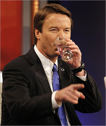 John Edwards again tried to position himself as in a two-way race with Barack Obama, portraying Clinton an establishment figure who sought to thwart the message of change both he and Obama wished to deliver. 'Every time he speaks out for change, every time I fight for change, the forces of the status quo are going to attack,' Edwards said, adding 'I didn't hear these kind of attacks from Senator Clinton when she was ahead, now that she's not we hear them.'
