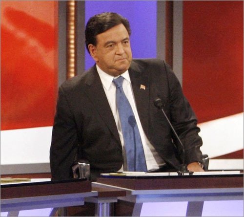 Bill Richardson frequently cited examples of his experience as an ambassador and governor to New Mexico, but he also sprinkled in humor throughout the debate to keep the mood light.