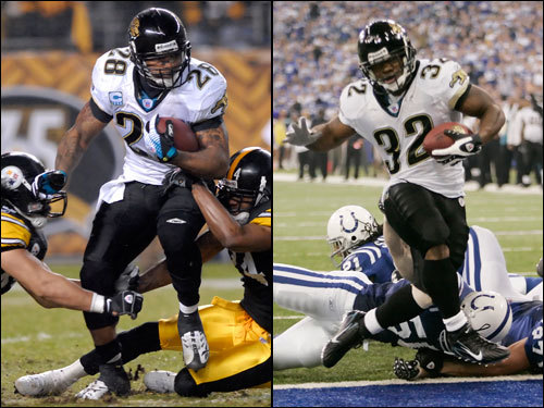 Fred Taylor delivers the body blows and Maurice Jones-Drew delivers the knockout punches. The 6-foot-1-inch, 228-pound Taylor has excellent vision and patience. He has lost a step (10 seasons and 10,000-plus yards will do that) but still can change direction and re-accelerate with the best of them. Jones-Drew uses his thick, powerful legs to run over defenders. He can fit through the tiniest of cracks and rarely gets thrown for a loss.