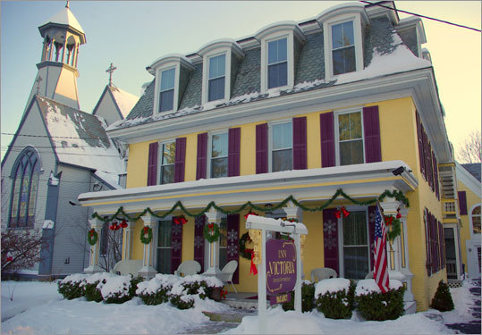Inn Victoria in Chester, Vt., was built in the 1850s as a private home. Under its British owners, the inn everywhere reflects that queen's era, from the wallpaper to the art to the silver-plate tea service to the bedside lamps.
