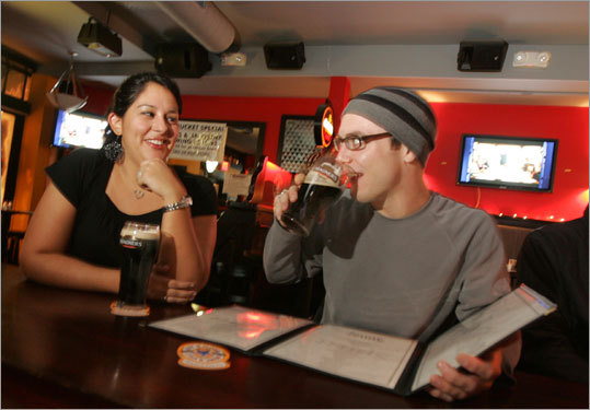 Bianca Romero and Ben Zanger met at the Spirit Bar in Cambridge, arranged by the online dating service Crazy Blind Date. There was hope by both for a second date.