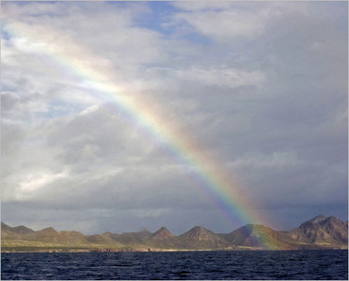 An early morning rainbow near Isla Santa Catalina. STORY Sampling Baja PLAN Latin America travel guide