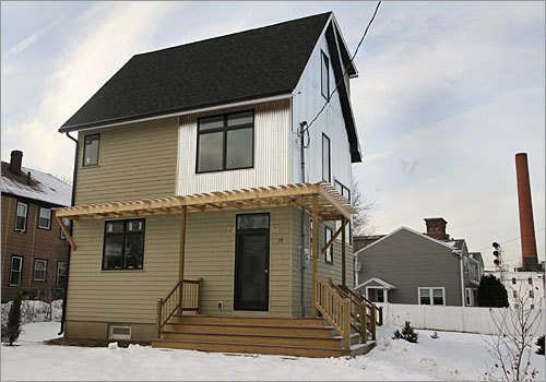 This 'green' pre-fab home in Lawrence is the latest creation of PowerHouse Enterprises, a Lawrence company out to extend the conventions of 'eco-friendly' to include economical as well as ecological features.