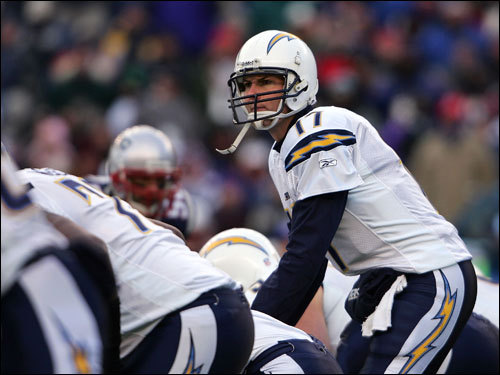 Philip Rivers made calls at the line of scrimmage in the first half.