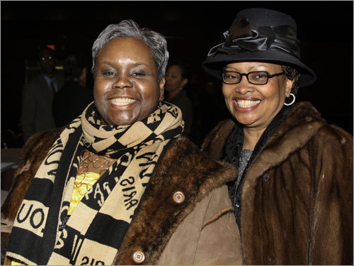 Irvienne Goldson of Cambridge and Rhoda Johnson of Roxbury attended the 38th annual Martin Luther King , Jr. Memorial Breakfast.