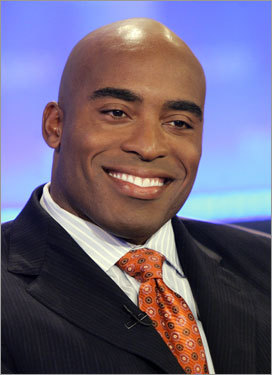 After retiring at the end of the 2006 season, former Giants running back Tiki Barber blasted the team's coach, Tom Coughlin, and its fans in his autobiography. Regarding Coughlin, Barber said, 'If Tom Coughlin had not remained as head coach of the Giants, I might still be in a Giants uniform.' He also picked the Eagles as the team to beat in the NFC East.