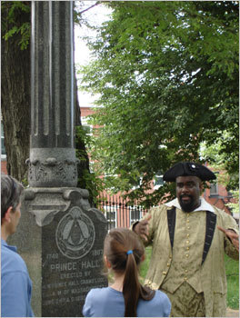 Walking Black History Take the Freedom Trail's African-American Patri¬ots Tour and the name of patriot Crispus Attucks will become as familiar as that other Patriot, Tom Brady. On the 90-minute walk, costumed guides discuss the contributions that black Bostonians like Attucks, poet Phyllis Wheatley, and others made to the American Revolu¬tion. Reserve a tour spot by telephone. African-American Patriots Tour, 617-357-8300, thefreedomtrail.org . Check out more Best of the New categories in Sunday's Boston Globe Magazine
