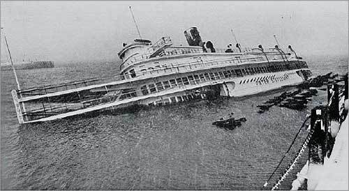The Peter Stuyvesant, a retired river cruise ship that was part of Anthony's Pier 4 restaurant, blew off its steel-and-concrete cradle, which had been hammered into bedrock, according to a Boston Globe report from the time. It sank in the harbor. Snowfall in the city reached 26.7 inches over two days, and winds were hurricane-force.