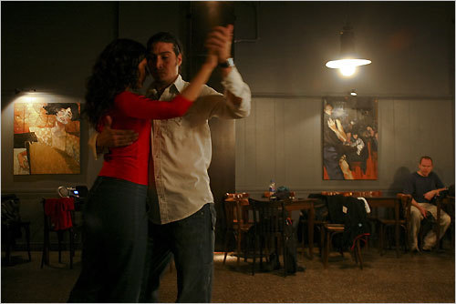 At Edith Paez Tango in Buenos Aires' Torquato Tasso Cultural Center, instructor Edith Paez demonstrates a tango step. STORY Uno, dos, tango PLAN Latin America travel guide
