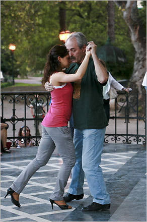 Instruction is followed by open dancing a few days a week at the Glorieta de Barrancas de Belgrano in Buenos Aires. STORY Uno, dos, tango PLAN Latin America travel guide