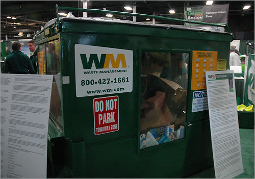Waste Management wants you to think green. They are trying to improve recycling, including light bulbs, gas-to-energy landfills, and other waste-based initiatives. Their new LampTracker truck recycles fluorescent lamps, lighting balusters, batteries and more.