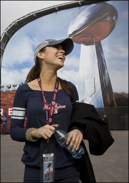 Actress Alyssa Milano walked outside the stadium before the game.