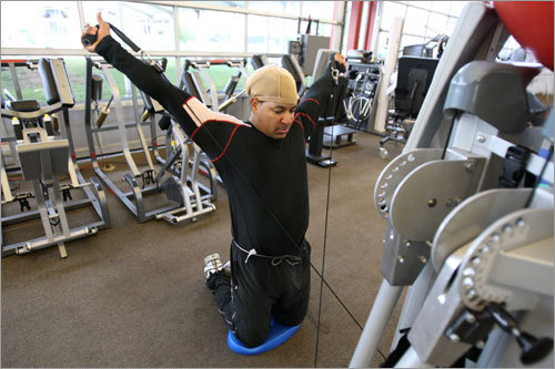 Manny has been enjoying working out in Arizona at the Athletes' Performance complex with several other players, including Sox first baseman Kevin Youkilis and Minnesota Twins third baseman Nick Punto.