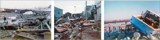 Elmer Pooler snapped photographs to document the damage caused by the Blizzard of '78. Hundreds of homes on the South Shore were destroyed.