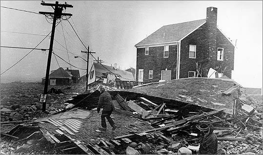 Many coastal cottages have been converted to year-round residences since the Blizzard of '78, when the damage in Scituate included leveled houses.