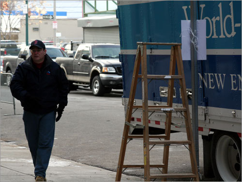 'Truck Day is like Groundhog Day for two reasons,' said Kevin Carson, who directs the moving operation for New England Household and Moving. 'First, it's a sign of spring in Boston. Second, it's the same thing every year, just like the movie.'