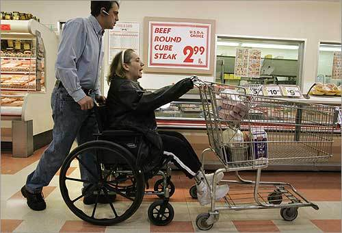 Grocery shopping requires a tag-team effort.