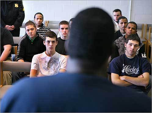 Students from the Explorers Club listened on Feb. 9 as an inmate described his time at Suffolk County Jail on Nashua Street in Boston.