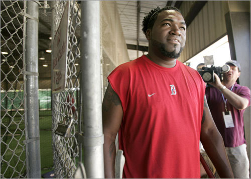 Big Papi's appearance was big news on Tuesday.