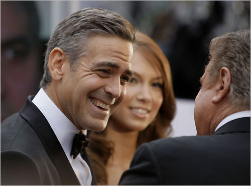 George Clooney was nominated for best actor for his leading role in 'Michael Clayton.' Although he did not bring home the Oscar, Clooney won for best supporting actor in 2006 for his work in 'Syriana.' Listen to Beggy's red-carpet interview with Clooney: