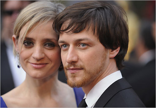 James McAvoy presented the award for best adapted screenplay at the 80th annual Oscars. McAvoy also appeared in the Oscar-nominated film 'Atonement.' Listen to Beggy's red-carpet interview with McAvoy: