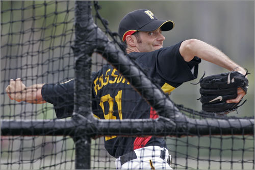 Fossum was part of the 2003 deal that brought Curt Schilling to Boston. In the four seasons since, he's pitched in 128 games for the Diamondbacks and Devil Rays. He's currently playing with the Pittsburgh Pirates.