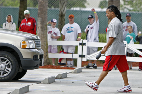 Manny Ramirez headed to the parking lot and his car. He did not accompany his teammates to Washington, D.C.