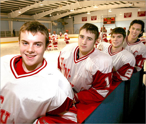 No. 2 Hingham 2007-08 season : One year after an unremarkable 13-10 campaign (one that included a first-round knockout in the Division 1 South tournament), Hingham enters the Super 8 tournament with a sterling 17-3-2 mark and will wear the banner of public school favorite. Forsberg's thoughts : Despite its success, Hingham went 2-3-1 against fellow Super 8 teams during the regular season (with wins over St. John's Prep and play-in victim Westford Academy). Fortunately for the Harbormen, Waltham, BC High, and Catholic Memorial -- their three losses -- are in the opposite group for round robin play, making the road to the crossover bracket a little easier to navigate.