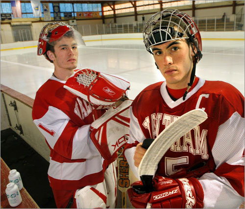 No. 8 Waltham 2007-08 season : The Hawks put together a 15-3-4 mark while claiming the Greater Boston League title this winter. They also saved some of their best hockey for late in the season, topping Austin Prep in a shootout to win the Cape Cod Classic. Forsberg's thoughts : Maybe that shootout helped Monday when the Hawks took down Westford in the same situation. Goaltender Steve Hopkins is on fire after a 34-save performance (the Ghosts didn't even score in four attempts in the shootout). Can Waltham continue to emulate Austin Prep from last season and ride the play-in momentum to the crossover bracket?